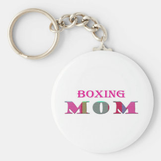 BoxingMom Basic Round Button Keychain