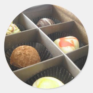 boxofchocolates classic round sticker