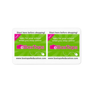 Boxtops for Education Stickers Custom Address Label