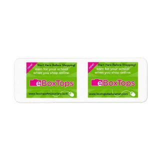 Boxtops para las pequeñas etiquetas de la educació etiquetas de remite