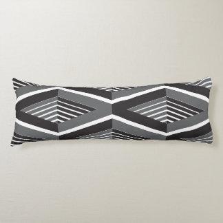 Boxy Black & White Body Pillow