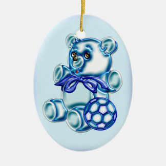 Boy #1 ceramic ornament