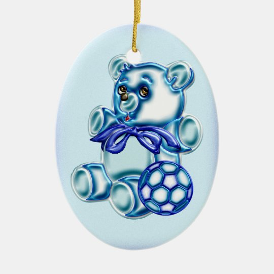 Boy #1 ceramic ornament