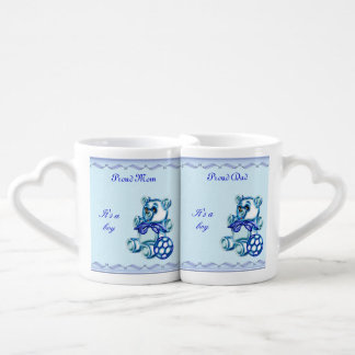 Boy #1 couples' coffee mug set