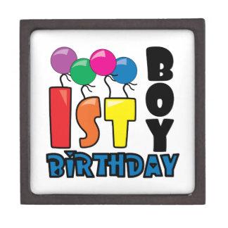 Boy 1st Birthday Premium Trinket Boxes