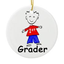 Boy 1st Grade Ceramic Ornament