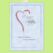 Boy Adoption Congratulations, Blue, Religious Card