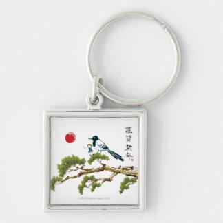 Boy and a Bird Key Chains
