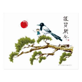 Boy and a Bird Postcard