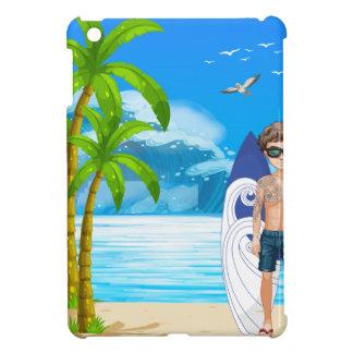 Boy and beach case for the iPad mini