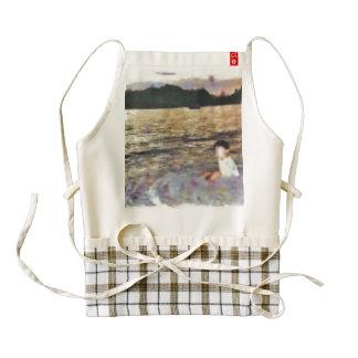 Boy and beach zazzle HEART apron