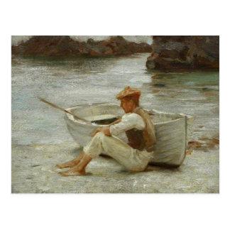 Boy and Boat by Henry Scott Tuke Postcard
