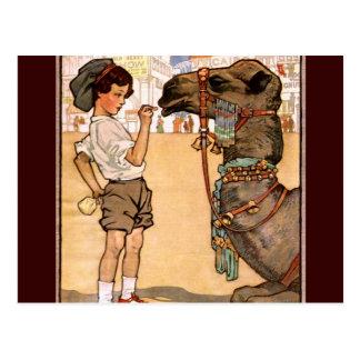 Boy and Camel Postcard