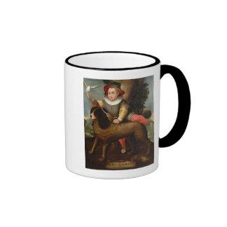Boy and Dog, `Bibius Vincit' Mugs