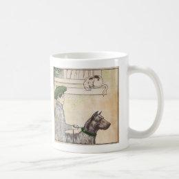 Boy and dog coffee mug