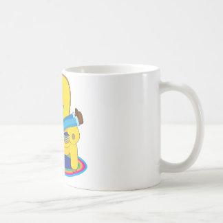 Boy and Dog Reading Coffee Mug