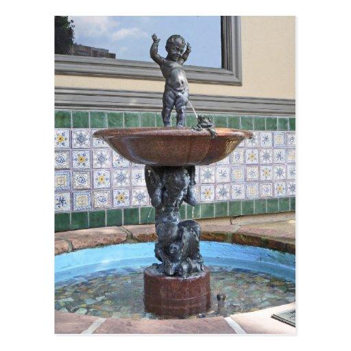 Boy and Frog Fountain by Raffaello Romanelli Postcard