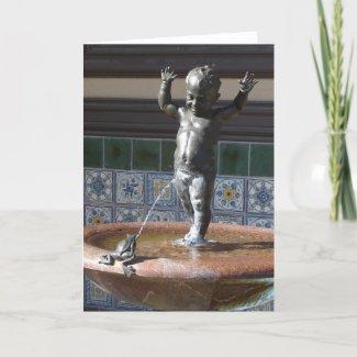 Boy and Frog Fountain Kansas City card