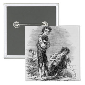 Boy and Girl at Cahera 2 Inch Square Button