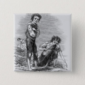 Boy and Girl at Cahera Pinback Button