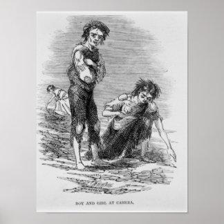 Boy and Girl at Cahera Posters