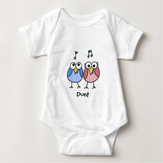 Boy and Girl Baby Byrdies Duet Infant Creeper