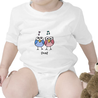 Boy and Girl Baby Byrdies Duet T Shirts