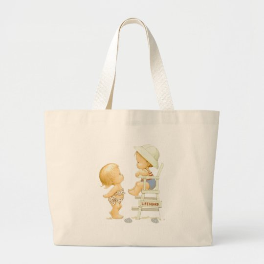 Boy and Girl Beach Bag