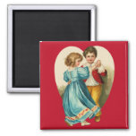 Boy and Girl Dancing 2 Inch Square Magnet