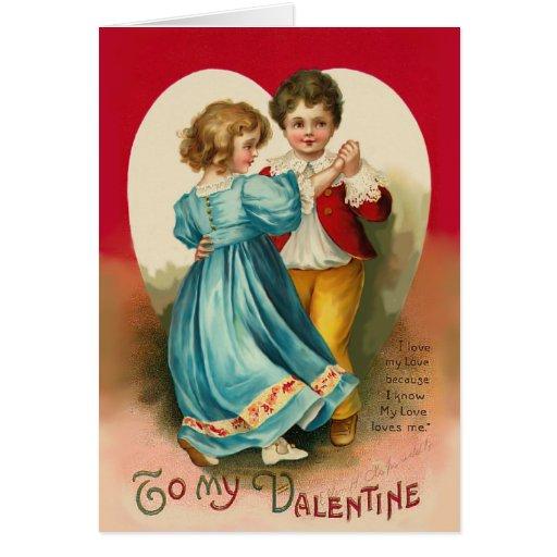 Boy and Girl Dancing Card