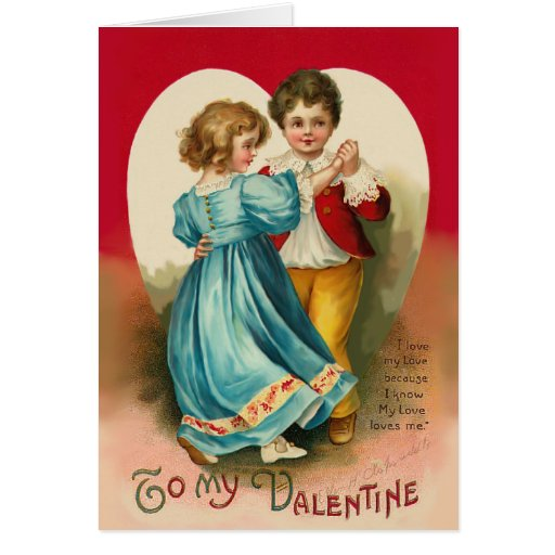 Boy and Girl Dancing Card Greeting Cards