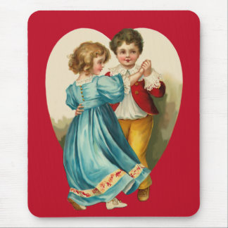 Boy and Girl Dancing Mouse Pad