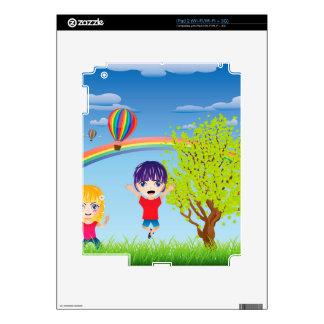Boy and Girl on Lawn iPad 2 Skins