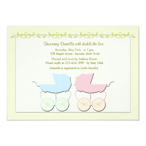 Baby Shower Twin Invitations with nice invitations ideas