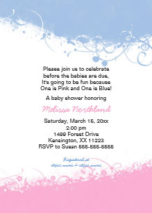 twin boys baby shower invitations zazzle