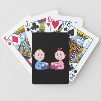 Boy And Girl Twins Bicycle Playing Cards