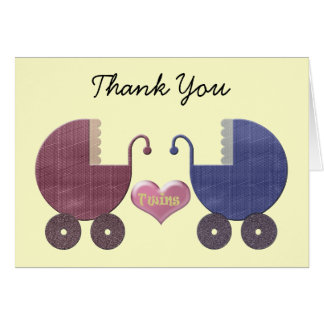 Boy and Girl Twins Greeting Cards