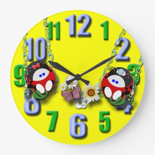 Boy and Girl Twins Large Clock
