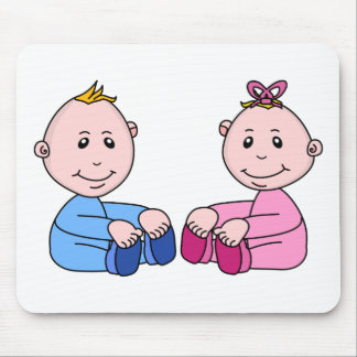 Boy And Girl Twins Mouse Pad