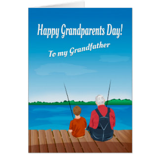 Boy and Grandfather for Grandparent's Day Card