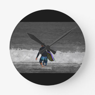 BOY AND HIS BOOGIE BOARD CLOCK