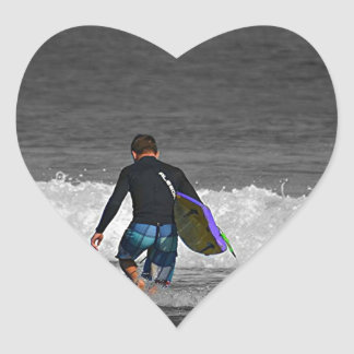 BOY AND HIS BOOGIE BOARD HEART STICKER