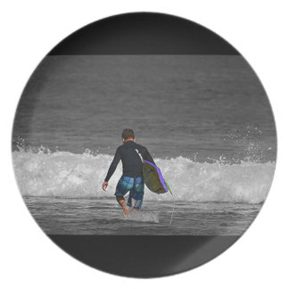 BOY AND HIS BOOGIE BOARD DINNER PLATES