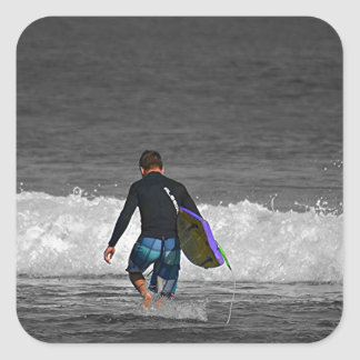 BOY AND HIS BOOGIE BOARD SQUARE STICKER