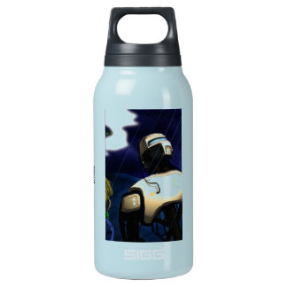 Boy and his Bot Artwork Insulated Water Bottle