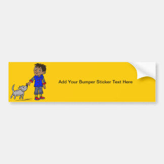 Boy And His Dog Bumper Sticker
