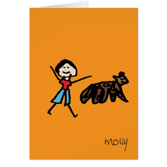 Boy and his dog card