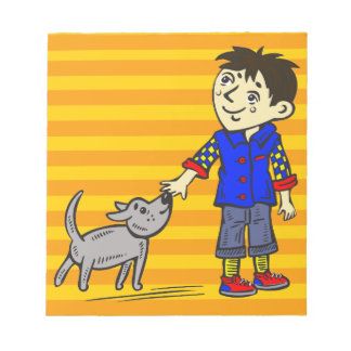 Boy And His Dog Note Pads