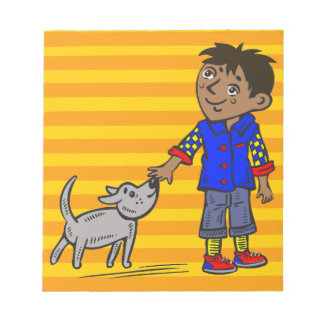 Boy And His Dog Memo Note Pads
