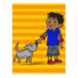 Boy And His Dog Postcard